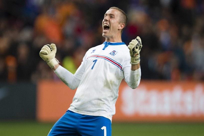 Bramkarz Islandii Hannes Halldorsson ma się z czego cieszyć /PAP/EPA