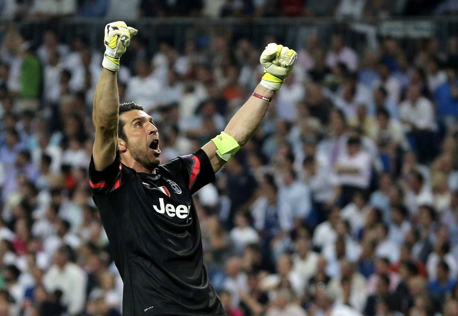 Bramkarz Juventusu Gianluigi Buffon /Ballesteros    /PAP/EPA
