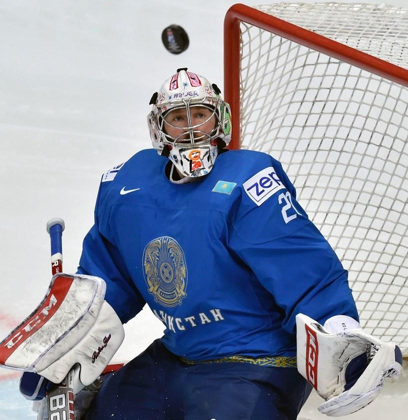Bramkarz Kazachów Witalij Kolesznik /AFP