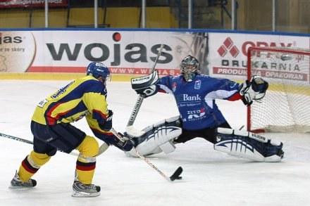 Bramkarz KH Sanok Wojciech Rocki jest odkryciem Polskiej Ligi Hokejowej, fot: Tadeusz Bącal /INTERIA.PL