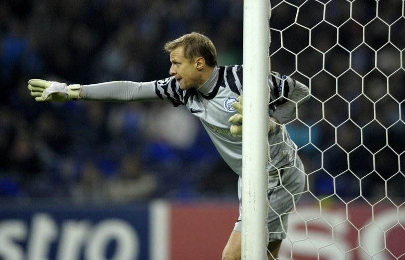 Bramkarz piłkarskiej reprezentacji Rosji Wiaczesław Małafiejew /AFP