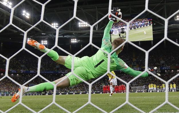 Bramkarz reprezentacji Anglii  Jordan Pickford /PETER POWELL   /PAP/EPA