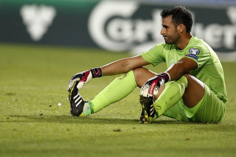 Bramkarz reprezentacji Gibraltaru Jordan Perez /AFP