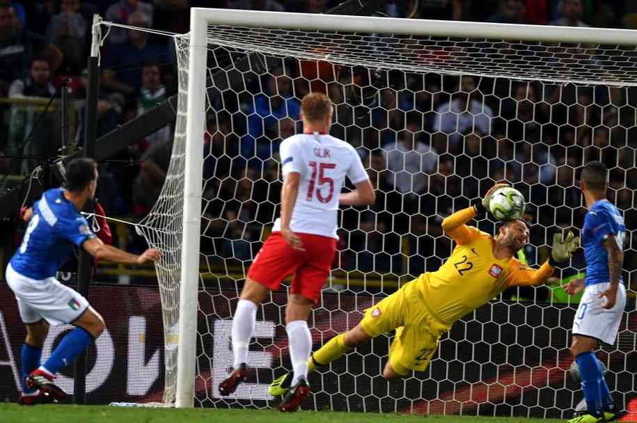 Bramkarz reprezentacji Polski Łukasz Fabiański podczas pierwszego meczu piłkarskiej Ligi Narodów UEFA z Włochami. /Bartłomiej  Zborowski /PAP