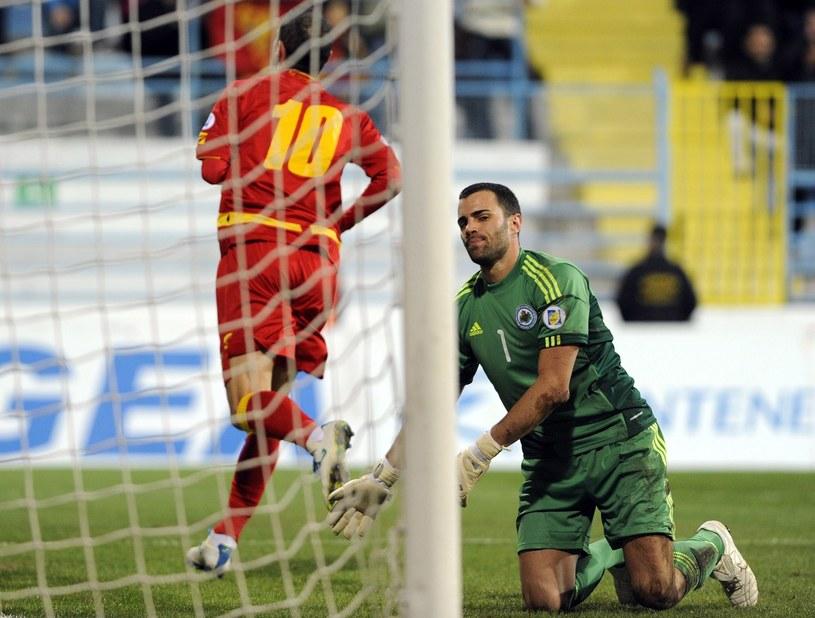 Bramkarz San Marino Aldo Simoncini /AFP