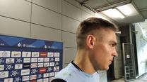 Bramkarz Wisły Kraków Mikołaj Biegański po meczu z Górnikiem Zabrze. WIDEO