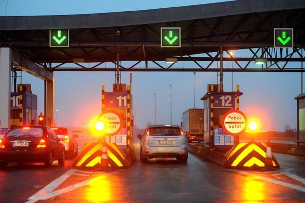 Bramki przy wjeździe na autostradę A4 /Wojciech Stróżyk /Reporter