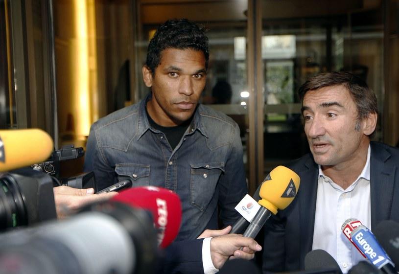 Brandao i jego adwokat Olivier Martin /AFP