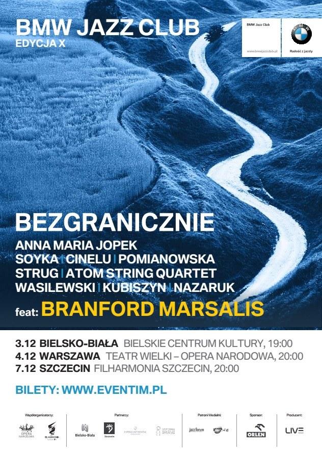 Branford Marsalis i polscy muzycy zagrają z okazji 10. edycji BMW Jazz Club. /materiały prasowe
