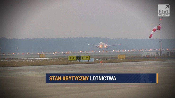 Branża lotnicza liczy straty /Polsat News
