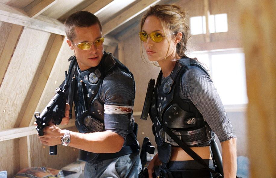 Bratt Pitt i Angelina Jolie - jeszcze wspólnie - na planie filmu / Regency Entertainment /PAP/EPA