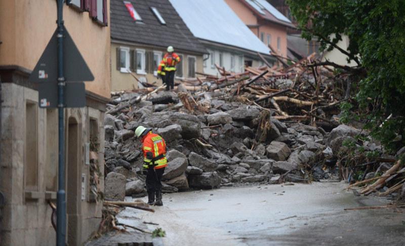 Braunsbach po przejściu nawałnicy /FRANZISKA KRAUFMANN /PAP/EPA