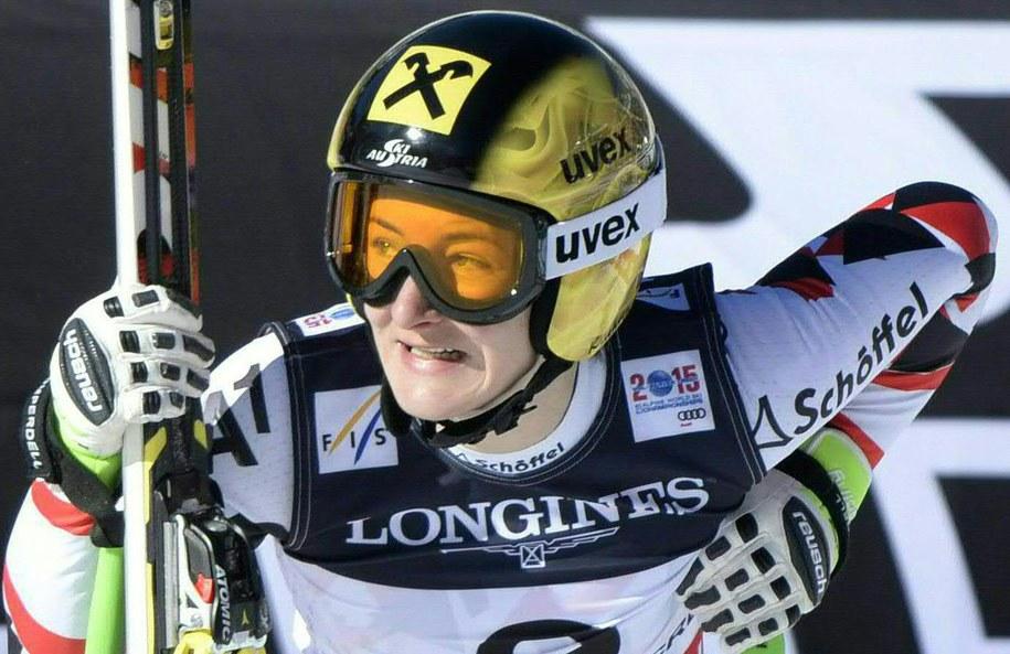Brązowa medalistka olimpijska z Soczi w slalomie Kathrin Zettel /HANS KLAUS TECHT    /PAP/EPA
