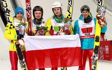 Brązowy medal Polaków w drużynowym konkursie skoków w Falun!