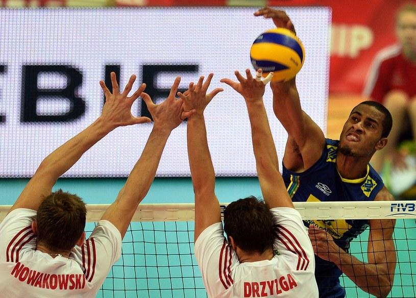 Brazylijczyk Lucarelli kontra polski blok /AFP