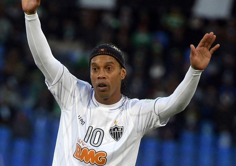 Brazylijczyk Ronaldinho w barwach Atletico Mineiro /AFP