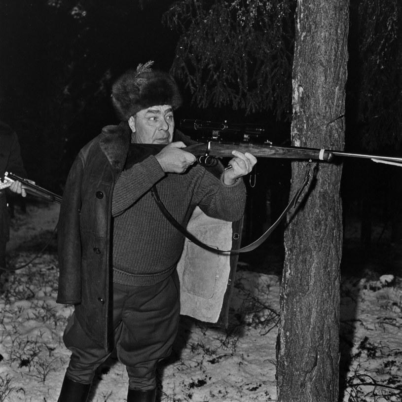 Breżniew na polowaniu w Polsce /Wacław Kapusto /Agencja FORUM