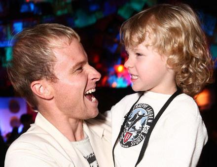 Brian Littrell z synem Baylee fot. Alberto E. Rodriguez /Getty Images/Flash Press Media