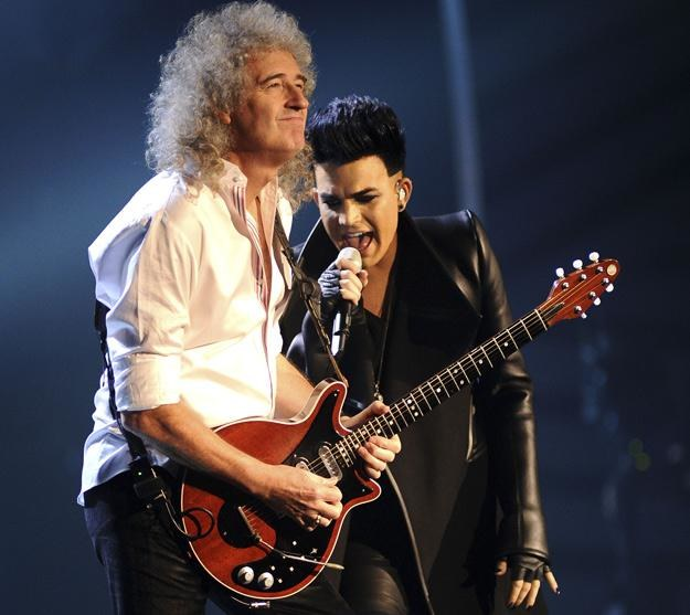 Brian May i Adam Lambert - fot. Ian Gavan /Getty Images/Flash Press Media