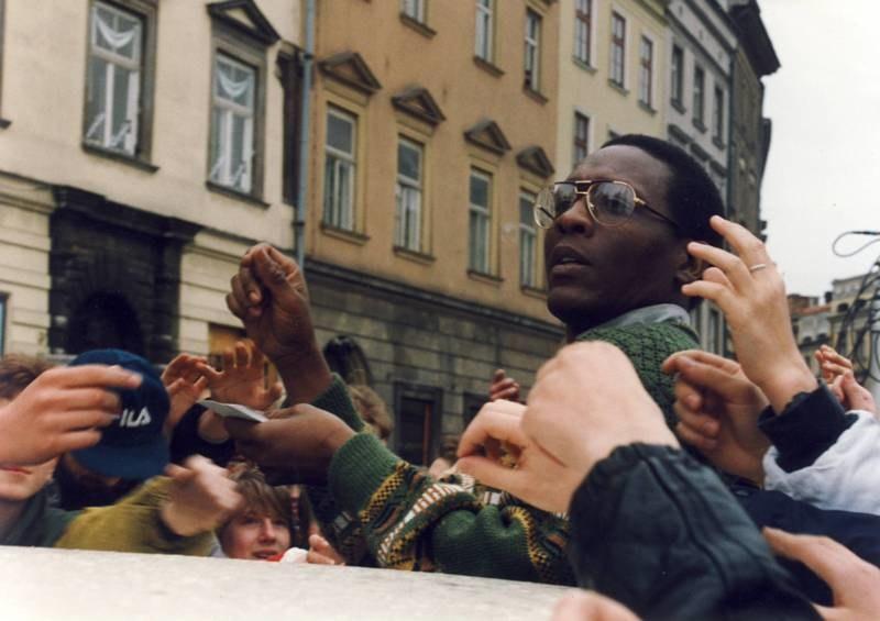 Brian Scott podczas pracy w RMF FM, Rynek Główny w Krakowie /RMF FM