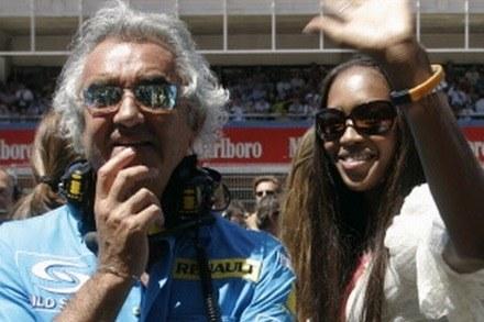 Briatore i Campbell / kliknij /AFP