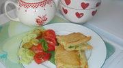 Brick nadziewane serem i cukinia