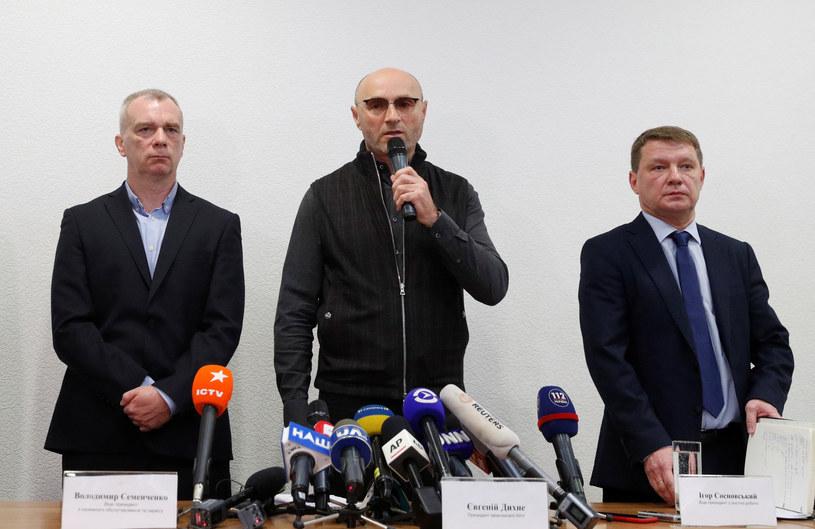 Briefing medialny przedstawicieli UIA na lotnisku w Boryspolu po katastrofie ukraińskiego Boeinga 737 w Teheranie. /VALENTYN OGIRENKO  /Agencja FORUM