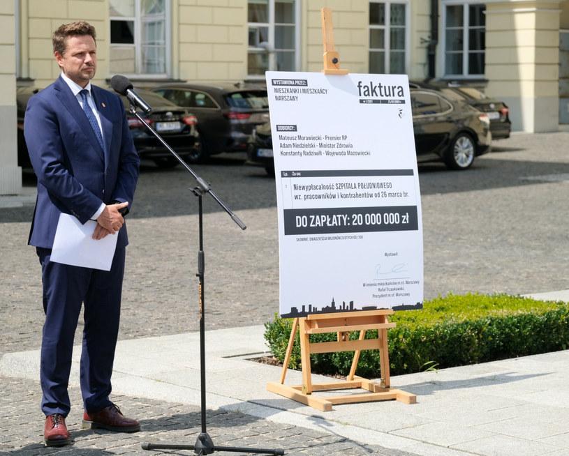 Briefing prasowy władz Warszawy na temat sytuacji spółki Szpital Solec, w tym Szpitala Południowego /Mateusz Grochocki /East News