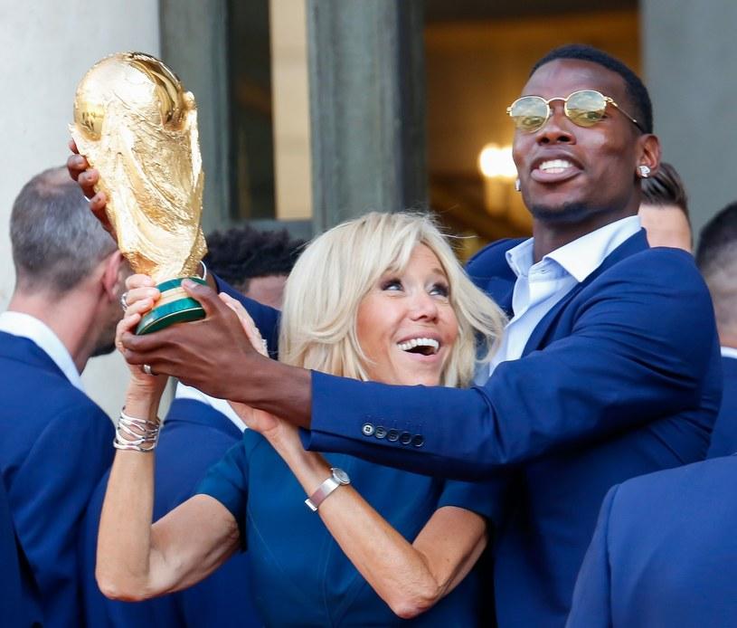 Brigitte Macron podczas finału Mistrzostw Świata /Jean Benard Vernier/Polaris Images /East News