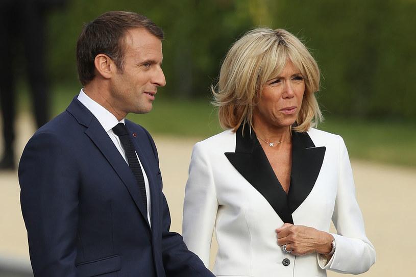 Brigitte Macron zrobiła aferę swojemu mężowi /Getty Images