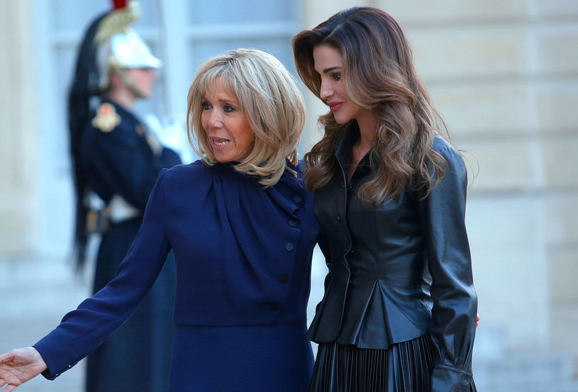 Brigitte Trogneux i królowa Rania /East News