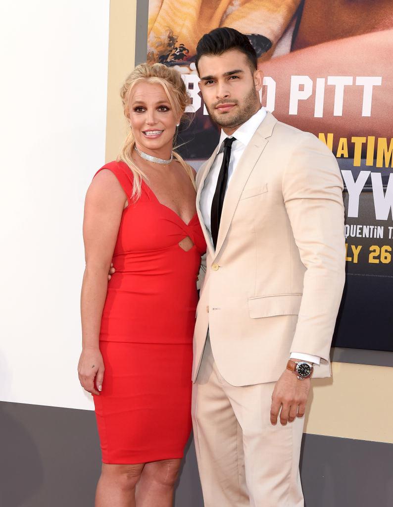 Britney Spears z ukochanym /AXELLE/BAUER-GRIFFIN /Getty Images
