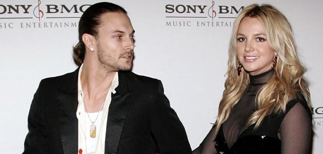Britney z byłym mężem Kevinem Federline'em  /AFP