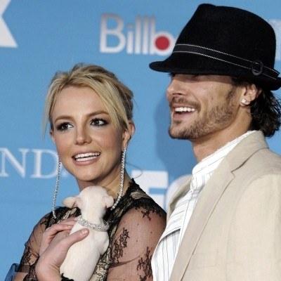 Britney z mężem /AFP