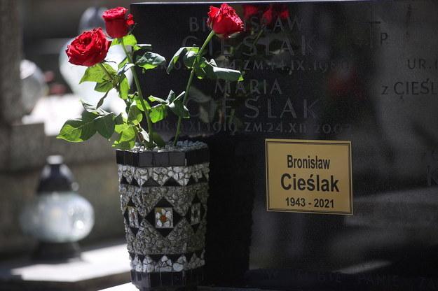 Bronisław Cieślak spoczął na Cmentarzu Podgórskim w Krakowie /Łukasz Gągulski /PAP