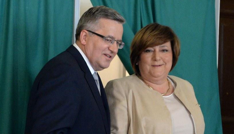 Bronisław i Anna Komorowscy /Jacek Turczyk /PAP