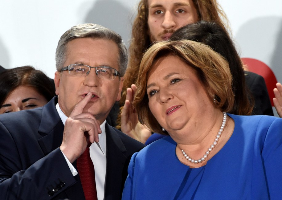 Bronisław i Anna Komorowscy /Radek Pietruszka /PAP