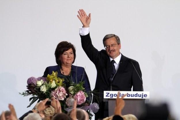 Bronisław Komorowaski, zwycięzca wyborów prezydenckich'2010, fot. Jan Kucharzyk /Agencja SE/East News