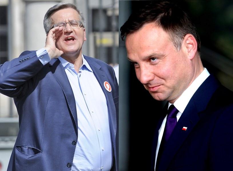 Bronisław Komorowski, Andrzej Duda. fot. Marcin Obara/Andrzej Grygiel /PAP