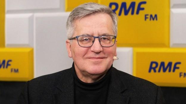 Bronisław Komorowski gościem Popołudniowej rozmowy w RMF FM /Michał Dukaczewski /RMF FM