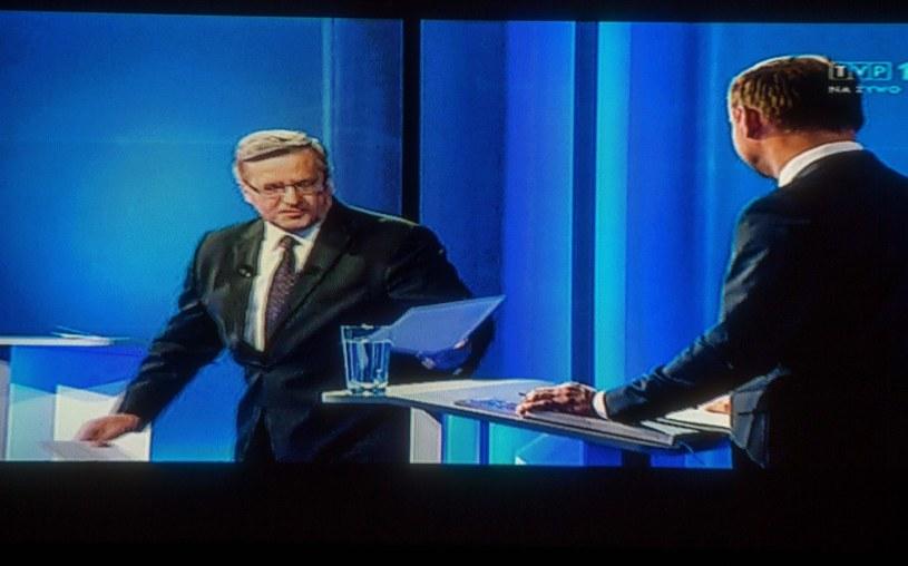 Bronisław Komorowski i Andrzej Duda w trakcie debaty /Andrzej Iwańczuk /East News