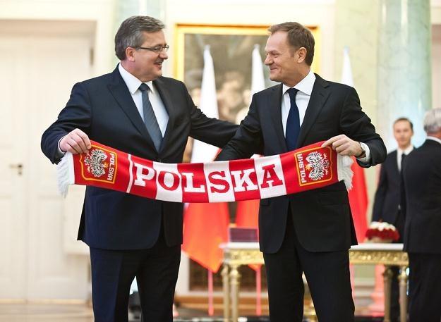 Bronisław Komorowski i Donald Tusk 18 listopada 2011/fot. B. Krupa /East News