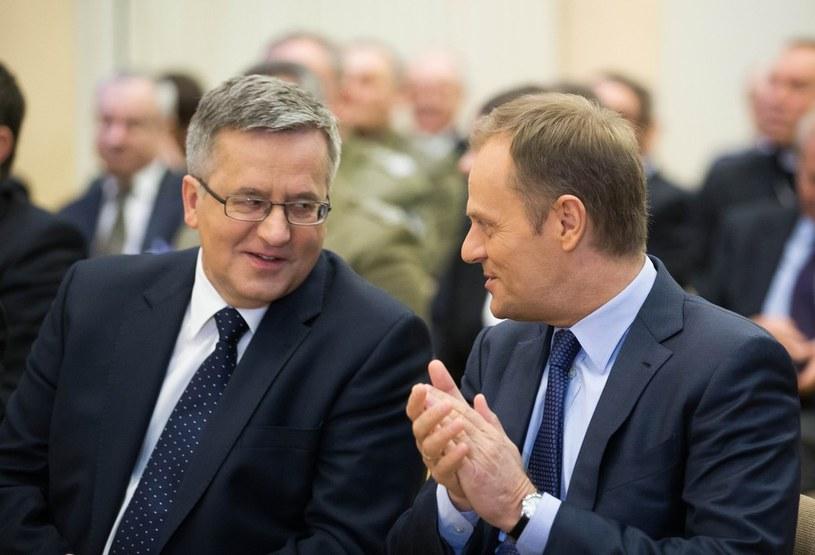Bronisław Komorowski i Donald Tusk; zdj. ilustracyjne /Andrzej Iwańczuk/Reporter /East News