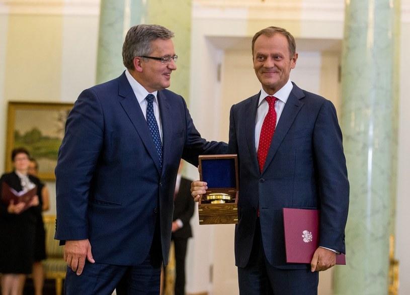 Bronisław Komorowski i Donald Tusk /- /East News
