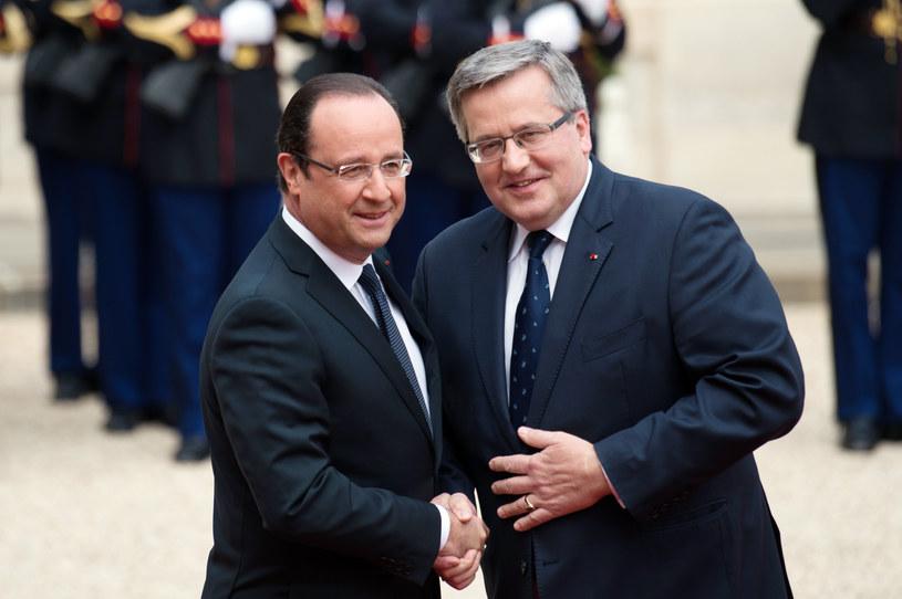 Bronisław Komorowski i Francois Hollande /AFP