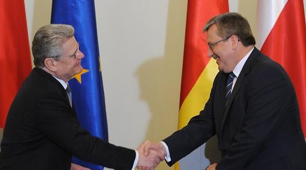 Bronisław Komorowski i Joachim Gauck, fot. Jacek Turczyk /PAP