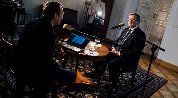 Bronisław Komorowski i Konrad Piasecki/Kancelaria Prezydenta /Eliza Radzikowska-Białobrzewska /RMF FM