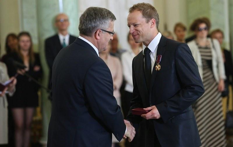 Bronisław Komorowski i Maciej Stuhr /Rafał Guz /PAP