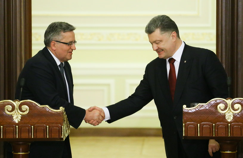Bronisław Komorowski i Petro Poroszenko /Paweł Supernak /PAP
