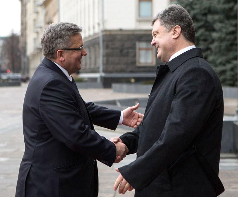 Bronisław Komorowski i Petro Poroszenko /AFP